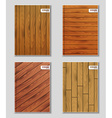 set covers with wooden texture vector image