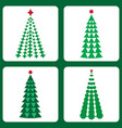 set of icons with christmas trees vector image vector image