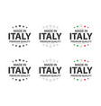 set of six italian icons made in italy premium vector image vector image