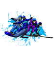 set skiers people skiing design vector image
