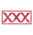 stamp text xxx vector image vector image
