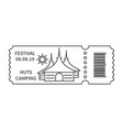 ticket with barcode with hut vector image vector image