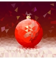 Triangle background with bright Christmas ball vector image