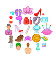 women like icons set cartoon style vector image vector image