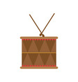 wood drum musical object play vector image