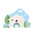 work from home concept vector image