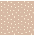 Retro hand drawn small polka dots vector image