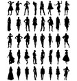 silhouettes of fashion vector image