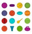 sport balls icons doodle set vector image