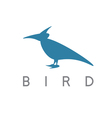 design template of abstract bird raven vector image