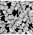 Abstract black seamless flower pattern with orchid vector image vector image