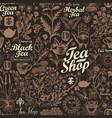 abstract seamless pattern on theme tea vector image
