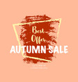 autumn sale banner vector image vector image