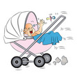 baby crying in pram vector image