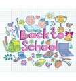 Back to school composition color vector image vector image