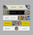 Banners design ethnic mandala