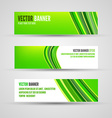 banners green lines vector image