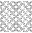 black and white seamless celtic knotwork pattern vector image vector image