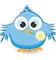 blue sparrow vector image vector image