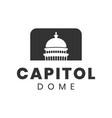 capitol dome logo design inspiration vector image vector image