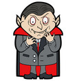 cartoon classic vampire vector image