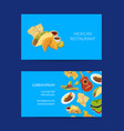 cartoon mexican food business card template vector image vector image