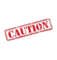 Caution rubber stamp vector image vector image