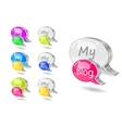 Chat icon set with blog word vector image