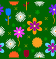 colorful flowers background pattern vector image vector image