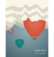colorful hot air balloons vector image