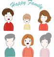 cute happy family cartoon vector image