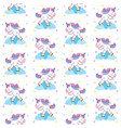 cute unicorn ice skating seamless pattern vector image vector image