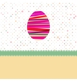 Easter egg created from colorful stripes EPS 8 vector image