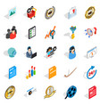 excellence icons set isometric style vector image vector image