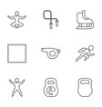 exercise icons vector image vector image