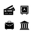 financical simple related icons vector image vector image