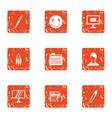 firewall icons set grunge style vector image vector image