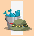 fishing equipment related vector image