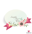 Floral bouquets with ribbon and heart vector image vector image