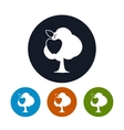 Four Types of Round Icons Apple Tree vector image vector image
