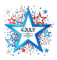 fourth july background with star vector image