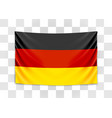 hanging flag germany federal republic of vector image vector image
