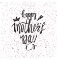 happy mother s day design background lettering vector image vector image