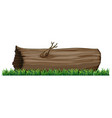 isolated tree log on white background vector image