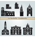 La Rochelle landmarks and monuments vector image vector image