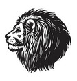 lion head hand drawn realistic drawing vector image vector image