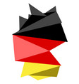 low poly style map of germany vector image vector image