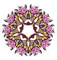 mandala colorful floral ornament vector image vector image