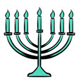 menorah icon cartoon vector image vector image