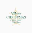 merry christmas abstract retro label logo vector image vector image